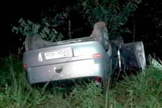 Após capotar carro na Estrada do Forninho ser resgatado motorista acabou preso pelos Rodoviários