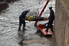 Homem não identificado cai no canal do Praia e é socorrido para o pronto-socorro  de Itabira