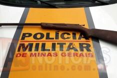 Rodoviários em verificação sobre caça predatória as margens da MGC-120 apreende arma em Santa Maria de Itabira