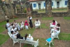 Grupo de capoeira de Catas Altas participa de Educação Patrimonial no Santuário do Caraça