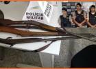 PM de Barão de Cocais apreende três armas e prende suspeito no bairro Brasmolina
