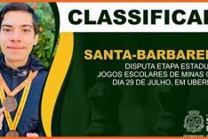 Estudante de Santa Bárbara se classifica para etapa estadual do Jemg no xadrez