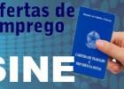 Vagas de empregos no Sine Itabira para hoje 25 de setembro de 2017