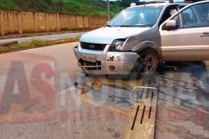 Condutor com suspeita de embriaguez é detido depois de destruir ponto de ônibus na Vila Santa Rosa em Itabira