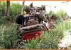 PM de Ferros registra um grave acidente que caminhão caiu em ribanceira de mais de 100 metros com dois ocupantes