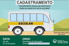 Prefeitura de Catas Altas realiza cadastramento para transporte escolar gratuito no Vista Alegre