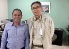 Juarez Camilo é recebido pelo presidente da Cenibra  em Belo Oriente