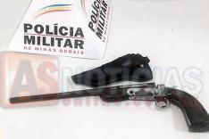 Policia Militar apreende garrucha escondida em barraco abandonado no Bairro Pedreira
