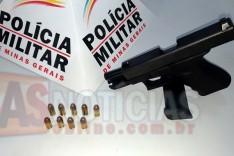 GEPMOR prende homem com pistola 380 em comercio no bairro Praia em Itabira