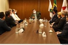 Presidente Gilson Lemes recebe prefeitos do Movimento 100+