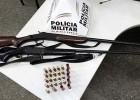 Polícia Militar de Santa Bárbara apreende armas e evita que essas cheguem as mãos de criminosos