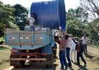 Prefeitura de Catas Altas entrega caixa d'água para famílias na zona rural