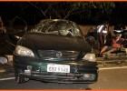 Ao deparar com viatura inabilitado foge em alta velocidade e acaba capotando veiculo na Avenida Cristina Gazire