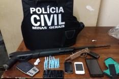 Policia Civil prende e apreende suspeitos envolvidos em roubos na região do bairro Gabiroba