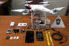 Agentes abateram drone que levava serras, celulares e droga para dentro de penitenciária de Ipaba