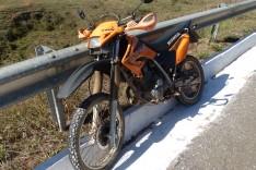 PM localiza motocicleta furtada em Santa Maria abandonada na MG-129  próximo a rampa do Voo Livre